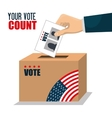 vote ballot voting box graphic vector image vector image
