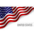 waving flag with copyspace vector image