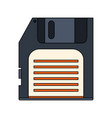 white background with floppy disk vector image vector image