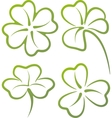 with a set clover leaves vector image