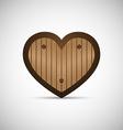 Wooden Love Heart vector image vector image