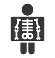 x ray simple icon on white background vector image vector image