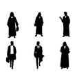 silhouettes of arab businessmen vector image