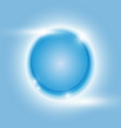 Design blue glow circle abstract background vector image