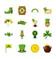 st patricks day set of icons celebration symbol vector image