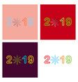 2019 happy new year greeting card celebration vector image vector image