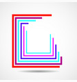 abstract colorful square logo with lines vector image vector image