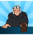 Angry judge comics character vector image