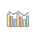 arrow with statistics diagram bar presentation vector image vector image