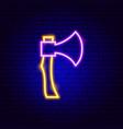 axe neon sign vector image vector image