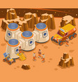 base on mars isometric vector image