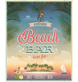 Beach bar ads flyer