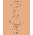 beautiful girl in dress sketch - vector image vector image