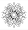 Black and White Mandale icon Bohemic design vector image