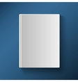 Blank book cover gradient mesh vector image