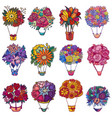 bouquet aerostat beautiful floral air vector image