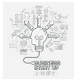 Business start up concept doodles icons set vector image vector image