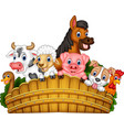 cartoon farm animals vector image
