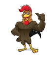 Cartoon Rooster Thumb Up vector image vector image