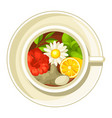 ceramic cup with different tastes vector image vector image