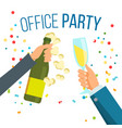 champagnes party champagne confetti vector image vector image