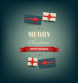Christmas poster with the inscription and gifts vector image vector image
