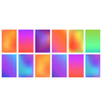 creative bright vivid gradient set for any vector image vector image
