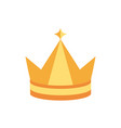 crown monarch jewel royalty heraldic vector image