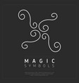 curvy element of magic sign vector image vector image
