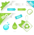 ecology labels and bio icons vector image vector image