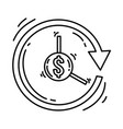 ecommerce pay later hand drawn icon set outline vector image