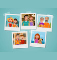 family photo album people parents and children vector image vector image