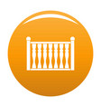 fence with column icon orange vector image
