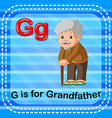 flashcard letter g is for grandfather vector image vector image