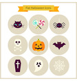 Flat Halloween Icons Set vector image vector image