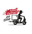 food delivery motorcycle vector image vector image