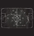 football tactic scheme soccer game strategy vector image vector image