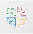 four seasons symbols vector image vector image