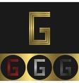 G Letter logo vector image vector image