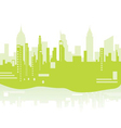 green city background vector image vector image