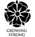 growing strong flower vector image vector image