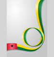 guinea-bissau flag wavy background vector image vector image