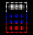 halftone russian calculator icon vector image vector image