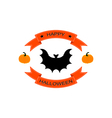 Halloween logo sign with bat vector image vector image