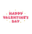 happy valentines day inscription with glitter vector image