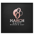 Happy Womens Day Design Element for Greeting Cards vector image vector image
