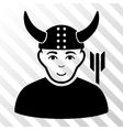 Horned Warrior Icon vector image vector image