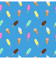 Ice cream popsicle frozen yogurt seamless pattern vector image vector image