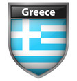 icon design for flag of greece vector image vector image