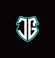 Jg initial logo design with a shield shape